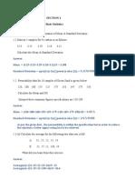 Statistics Exercises