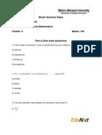 MC0063 Discrete Mathematics Model Question Paper