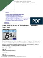 Como trocar a CD-Key do Windows Vista e Windows 7 com o slmgr