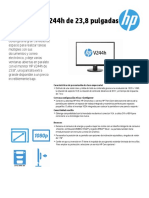 Monitor HP  V244H  profesional - datos técnicos