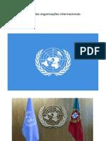 Papel das organizações internacionais