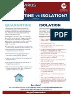 Delaware Division of Public Health Quarantine vs Isolation