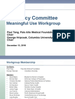 HIT Policy Committee Meaningful Use Recommendations - Stages 2 and 3 - 121310