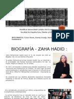 Análisis Sistema Constructivo Zaha Hadid