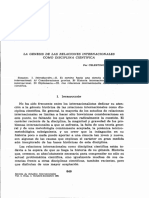 LECTURA 1 LaGenesisDeLasRelacionesInternacionalesComoDiscipl 2494287