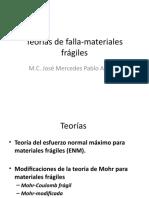 Teorías de falla-materiales frágiles