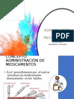 ADMINISTRACIÓN DE MEDICAMENTOS 2019
