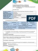 Guia de actividades y rubrica de evaluación - Paso 6 -Desarrollo propuesta de investigación