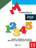 MATEMATICAS BASICAS 11 - DYLAR