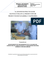 Manual de Bpm en  Laboratorio Panificacion