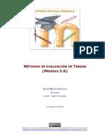 Métodos de evaluación de Tareas - Moodle 3.6
