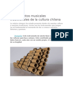 Instrumentos musicales tradicionales de la cultura chilena