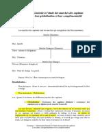 Introduction Générale à l'étude des marchés des capitaux