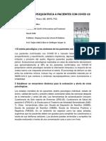 Intervención Psiquiatrica a Pacientes con COVID-19