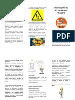 FOLLETOS - PREVENCION DE ACCIDENTES