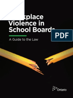 Workplace Violence in School Boards - A Guide to the Law