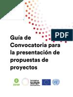 Guía - Convocatoria Para La Presentación de Propuestas de Proyectos de Spotlight-Oxfam