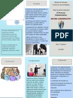 triptico y analisis  de gestion empresarial