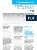 Locating Gender in ICTD projects - Mahiti Mitra kiosks of the Setu project of Abhiyan
