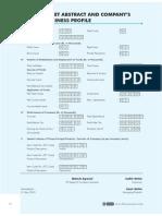 Balance Sheet Abstract