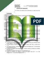 Guía de trabajo Décimo - Estados de oxidación