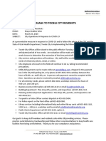 COVID 19 Memo to Tooele Residents 03-23-20