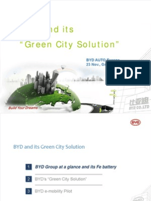 "BYD and its ""Green City Solution"