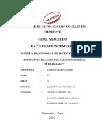INFORME FINAL DE ESTRUCTURAS METALICAS EN EL PALACIO MUNICIPAL