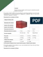 Dimensiones de un contenedor estándar