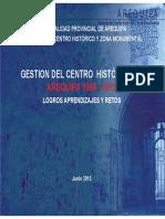 Gestión del Centro Histórico de Arequipa 2015