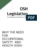OSH Legislation RA 11058
