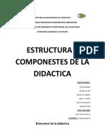 ESTRUCTURA Y COMPONESTES DE LA DIDACTICA.educacion fisica corte 2018