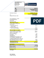 Wasa Cost Sheet