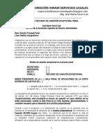 Modelo Recurso Casación Penal Excepcional - Autor José María Pacori Cari