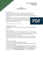 Glosario del análisis macroeconómico.