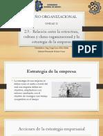 tema 2.9 temario diseño organizacional.- relacion clima,estructrura, con estrategias