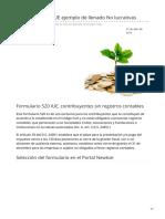 boliviaimpuestos.com-Formulario 520 IUE ejemplo de llenado No lucrativas