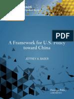 A Framework for U.S. Policy toward China
