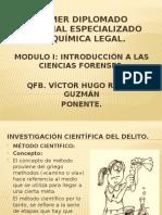 1 PRIMER DIPLOMADO NACIONAL ESPECIALIZADO EN QUÍMICA LEGAL