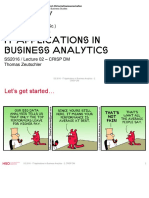 IT Applications in Business Analytics Lecture 02 CRISP DM