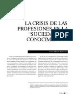 Crisis de las profesiones en la sociedad del conocimientotín Barbero