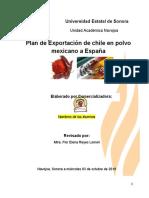 EJEMPLO PROYECTO DE DISEÑO DE EXPORTACION CHILE EN POLVO