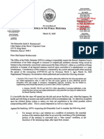 Public defender's letter to chief justice