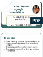 Homiletica 7 Las partes  de la  formulacion homiletico PDF