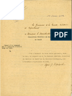 Rapport du Gouverneur Repiquet à destination du Ministre des Colonies mars 1922