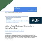Berklee WebEx Student Guide