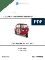 APE CALESSINO 200 2013-2014