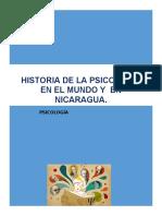 Linea del tiempo de la Historia de la Psicologia en general y en Nicaragua 1