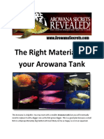 Arowana Care - The Right Material for your Arowana Tank
