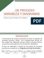 Flujos de procesos - variables y diagramas
